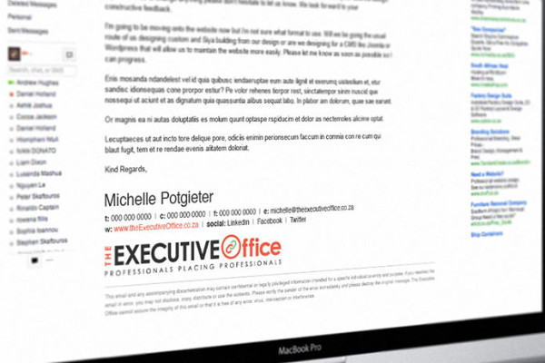 Corporate Stationary - Email Signature