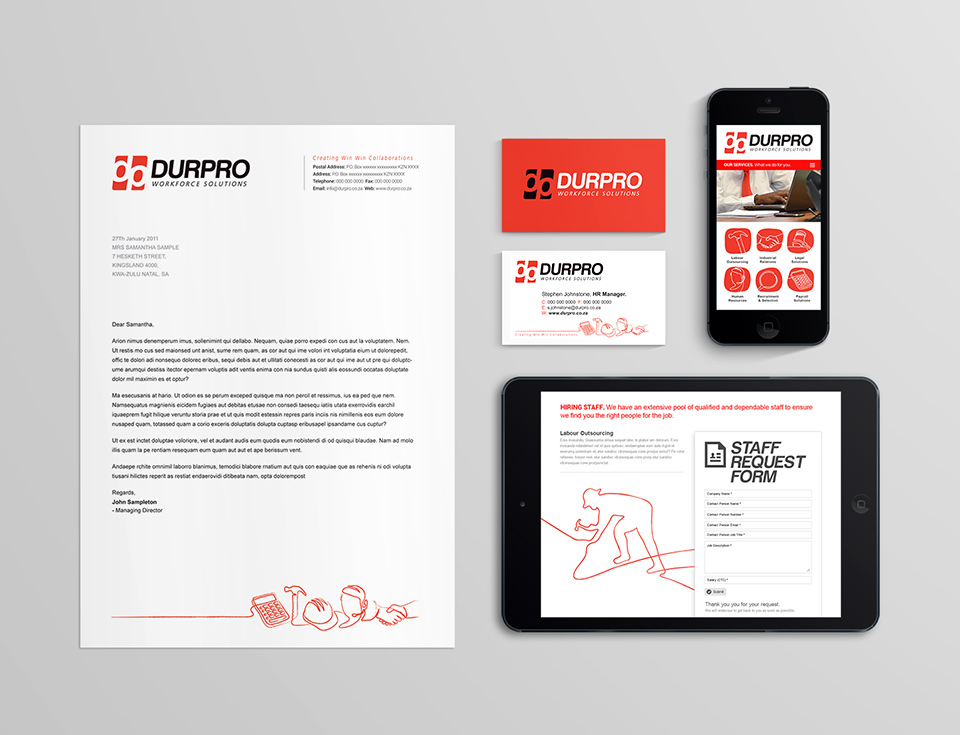 Durpro Branding Corporate Stationary Full