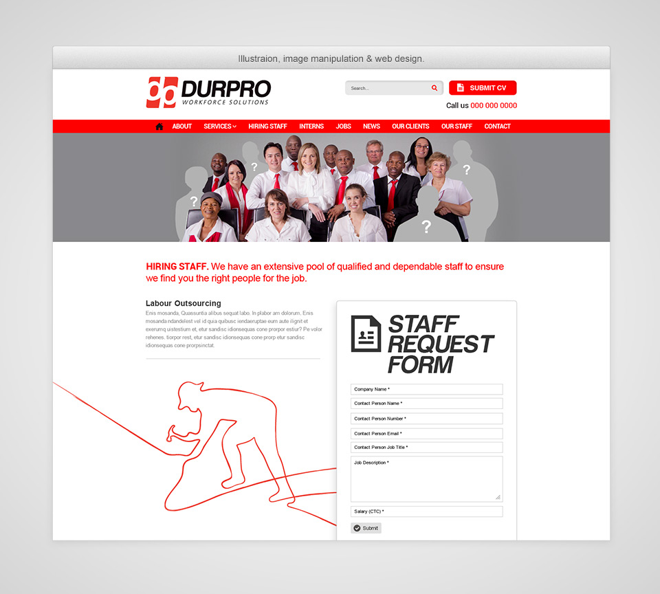 Durpro Website Staff Illustration