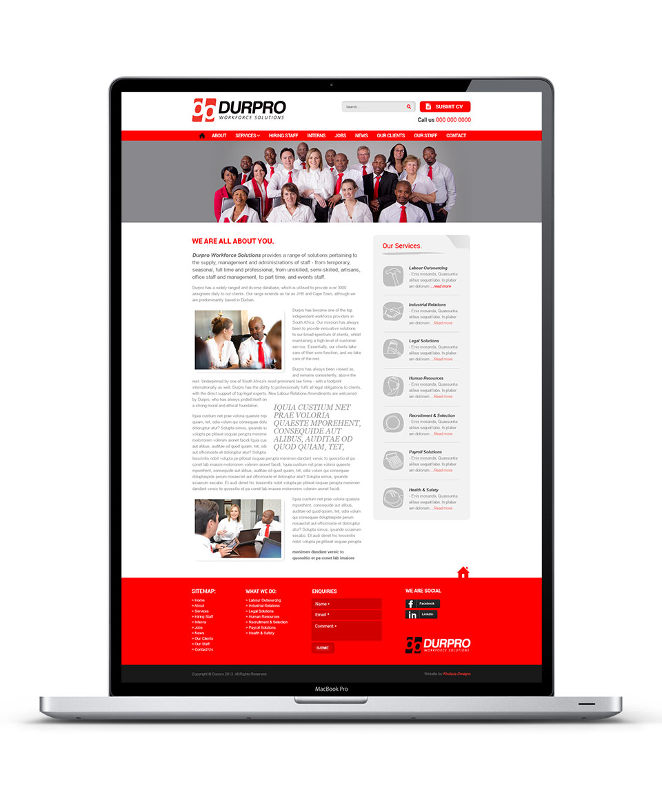 Durpro Web Design About