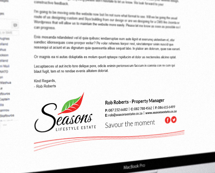 Seasons Branding - Email Signature