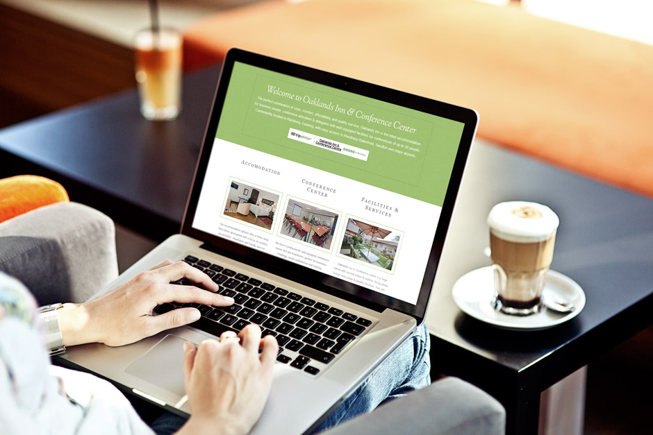 Oaklands Inn Web Design - Bootstrap Framework - Laptop View