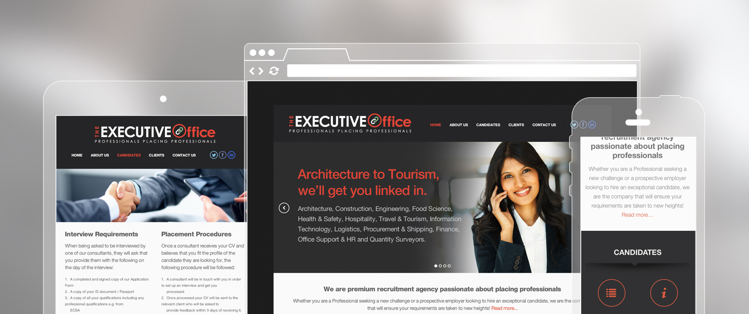 Responsive Web Design and Custom CMS - The Executive Office