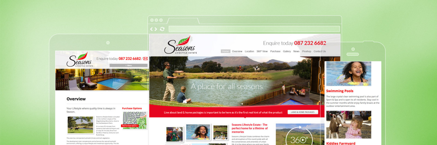 Responsive Web Design - Seasons Lifestyle Estate
