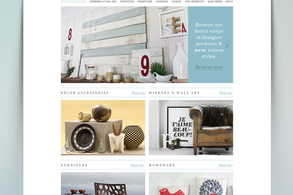 Decor Connect eCommerce Website Homepage Design