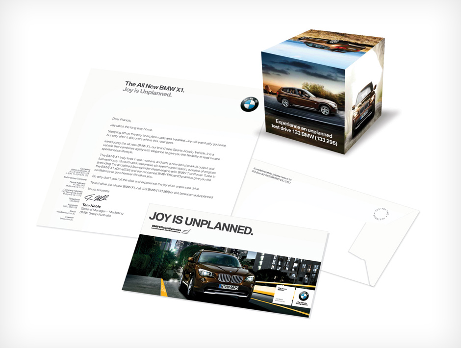 BMW Mailer Pack - Art Direction / Design / Brochure