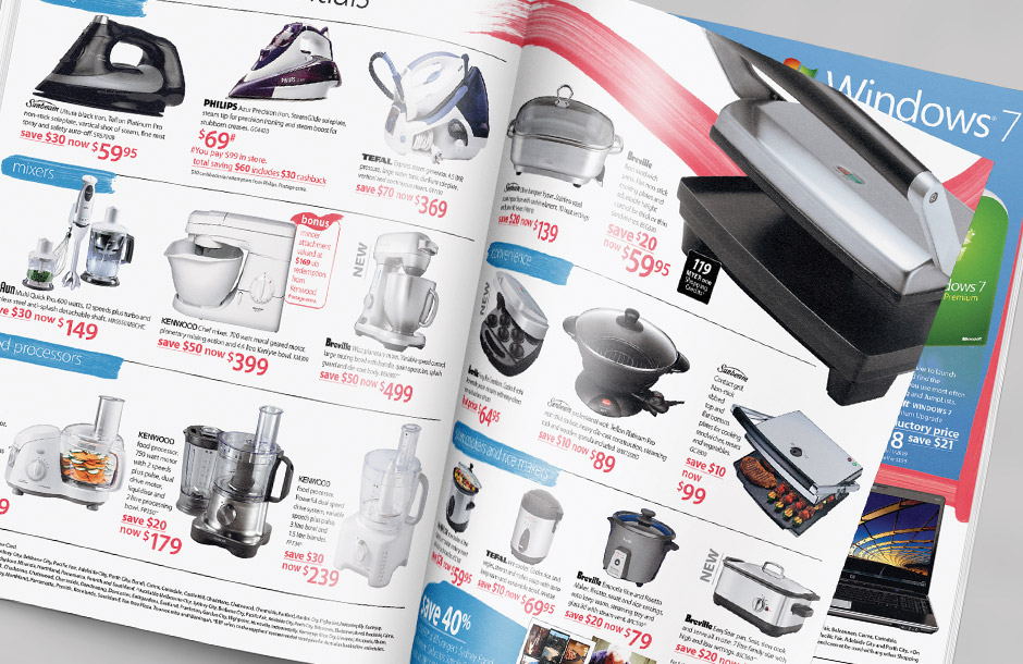 Myer Catalogue - Electrical - Art Direction