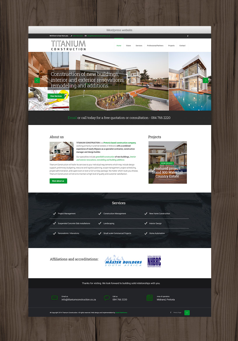 Full Home Page Design - Budget Website
