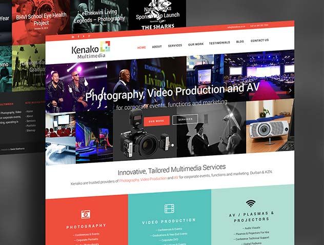 Kenako Multimedia – Website, Logo & Branding