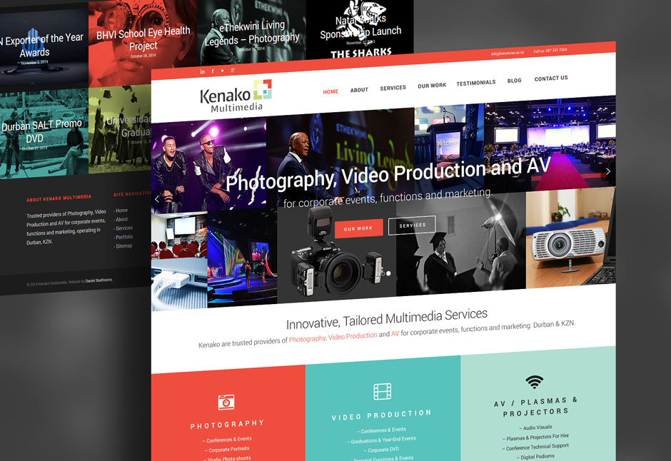 Kenako Marketing Web Design Mock-Up - Web Designer Durban