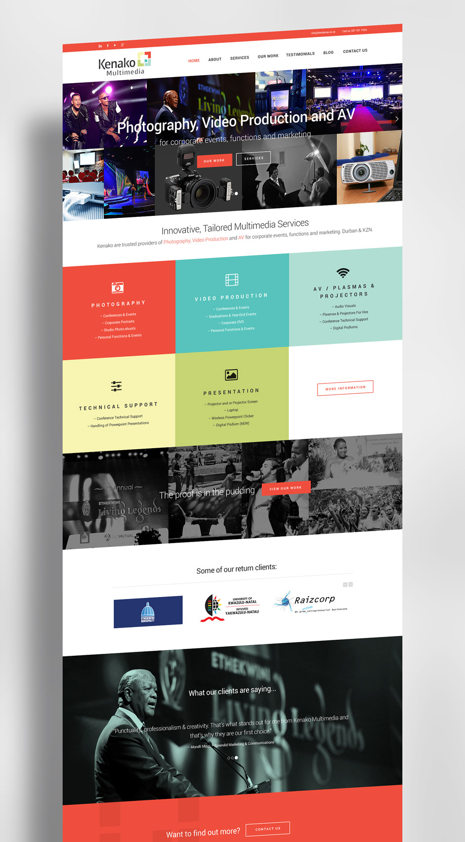Kenako Web Design Mock Up - Web Designer Durban
