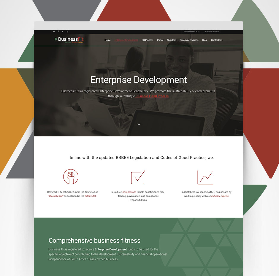 WordPress Website Builder - BusinessFit - Enterprise Development