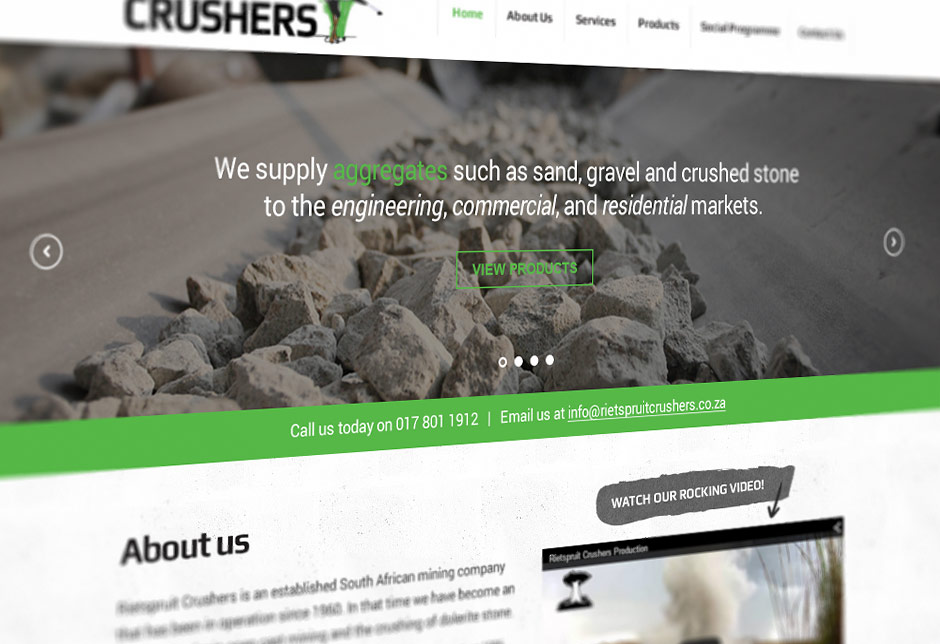 Mining Web Design - Rietspruit Crushers - Close Up