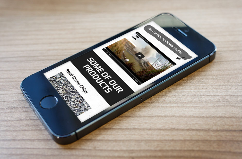 Mining Web Design - Rietspruit Crushers - iPhone 5