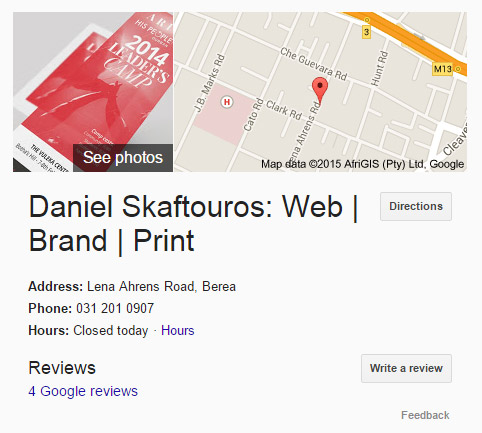 Google Business Page - Business Details - Local SEO