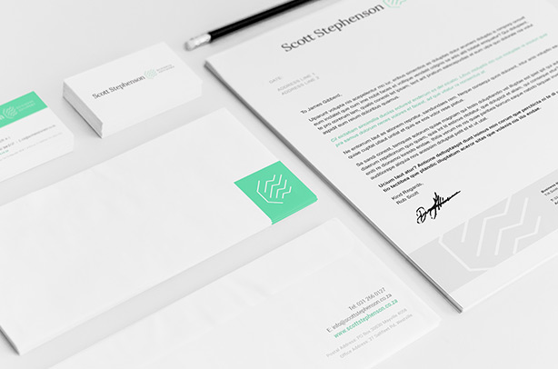 Top 10 best logo designs in South Africa - Scott Stephenson Business Advisory Corporate Stationary Design