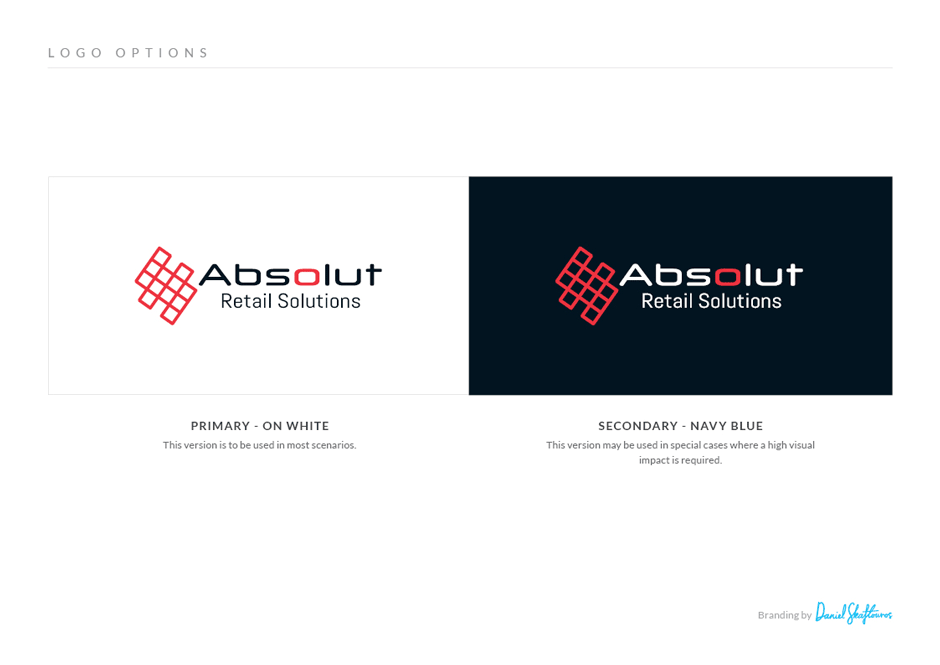 Absolut Logo design reversed
