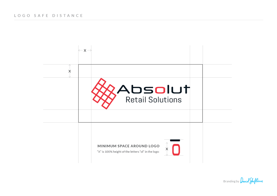Absolut Logo design font spacing