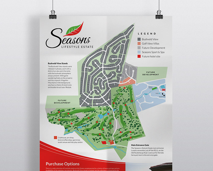 Seasons Branding - Poster / Plan Map