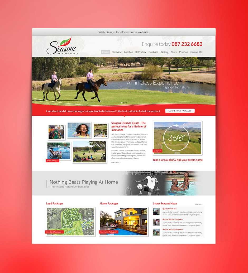 Seasons Web Design - Home Page
