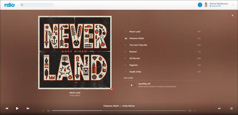 Andy Mineo Album Screen - Rdio - Cheap, Guilt-Free, Best Music Streaming Websites in South Africa