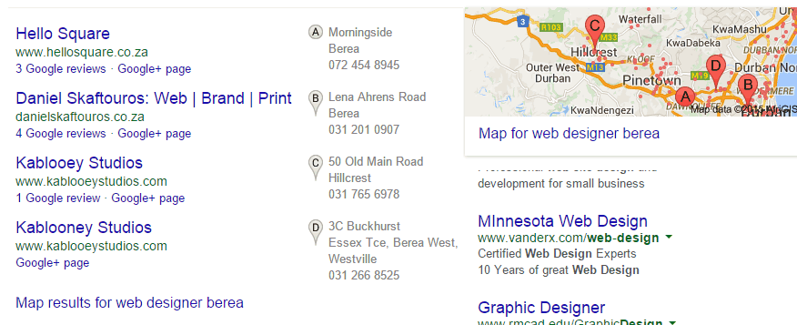 Google Map Carousel - Local Business Search