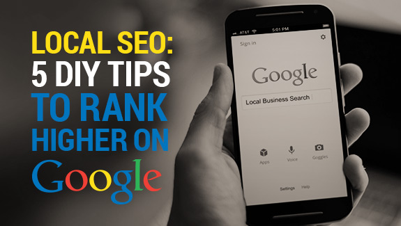 Local SEO - DIY tips to Rank Higher on Google - Featured Image