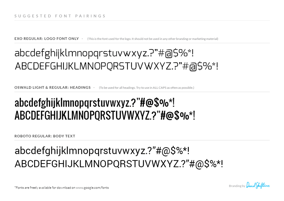 Suggested Font Pairings